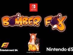 """Das Bild zeigt das Logo des Spieles """"Bomber Fox""""."""