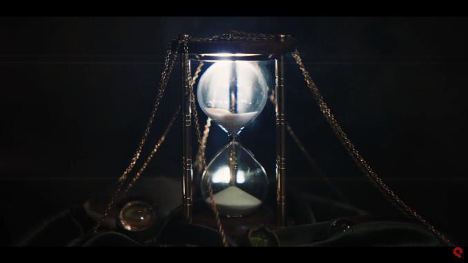 """Das Bild zeigt eine Szene aus dem Spiel """"Chronos: Before the Ashes"""". Man sieht eine Sanduhr."""