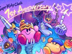 """Das Bild zeigt das besondere Kunstwerk zum ersten Geburtstag von """"Super Kirby Clash""""."""