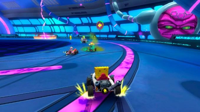 """Das Bild zeigt eine Szene aus dem Spiel """"Nickelodeon Kart Racers 2: Grand Prix""""."""
