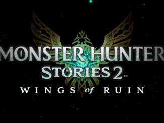 "Das Bild zeigt das Logo von ""MONSTER HUNTER STORIES : WINGS of RUIN""."