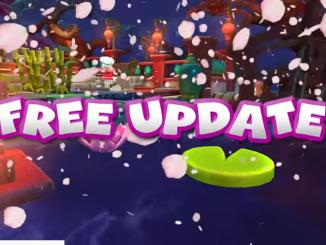 """Das Bild zeigt das Logo """"Free Update"""" des Spieles """"Overcooked! 2""""."""