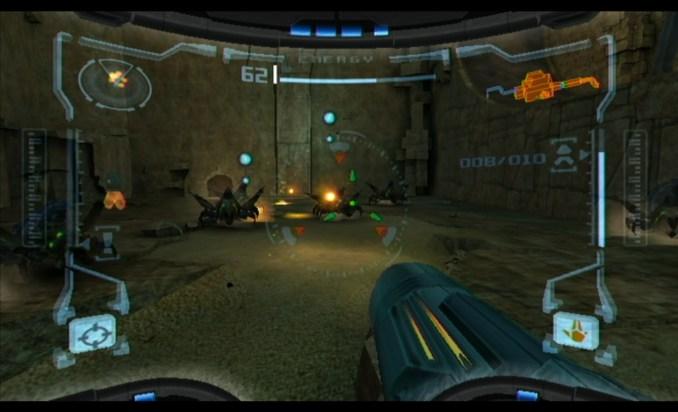 """Das Bild zeigt eine Szene aus der """"Metroid Prime Trilogie"""", entwickelt von Retro Studios."""