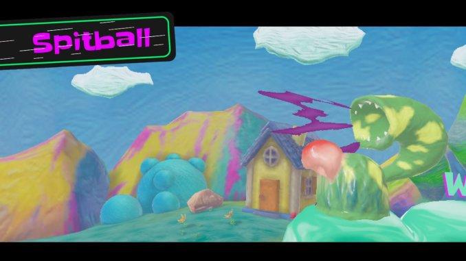 """Das Bild zeigt einen Gegner in dem Spiel """"Georifters. Er trägt den Namen Spitball."""
