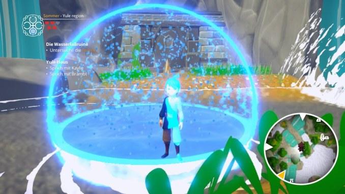 """Das Bild zeigt eine Szene aus dem Spiel """"Ary and the Secret of Seasons""""."""