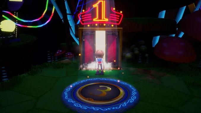 Das Bild zeigt den Eingang zum ersten Level.