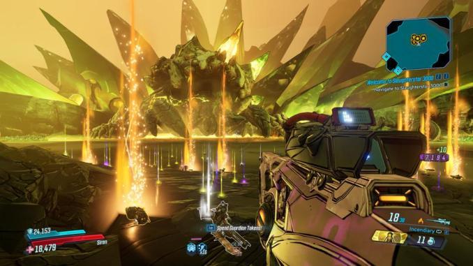 """Das Bild zeigt eine effektvolle Szene aus """"Borderlands 3""""."""