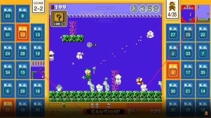 """Das Bild zeigt die Action in """"Super Mario Bros. 35""""."""
