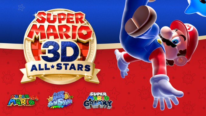 """Das Bild zeigt ein Artwork zur """"Super Mario 3D All-Stars""""-Kollektion aus der Super Mario-Direct."""