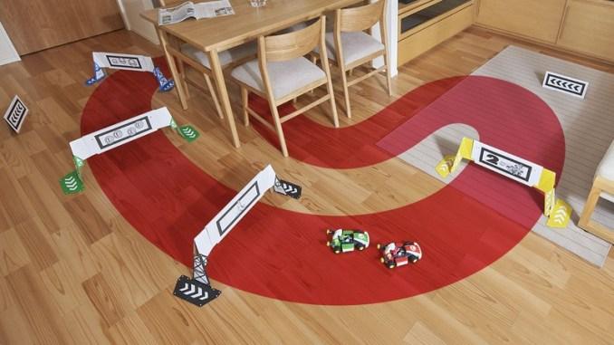 """Das Bild zeigt eine erstellte Strecke in """"Mario Kart Live""""."""