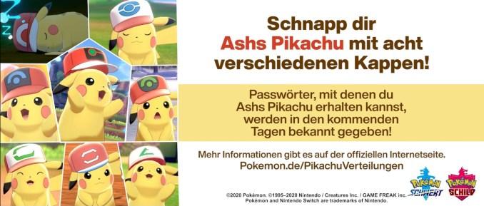 Das Bild zeigt Ashs Pikachu mit den achten verschiedenen Kappen.