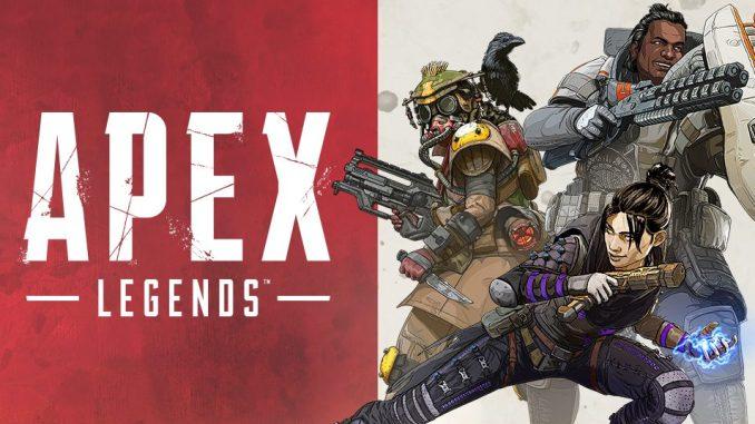 """Das Bild zeigt das Logo und einige Charaktere des Spiel """"Apax Legends""""."""