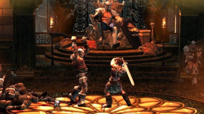 Das Bild zeigt den Kampf Mann gegen Mann in Golden Axed