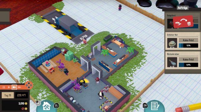 """Das Bild zeigt eine Szene aus dem Spiel """"Little Big Workshop""""."""