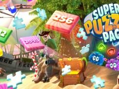 """Das Bild zeigt das Logo von """"Super Puzzle Pack""""."""