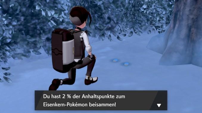 Auf dem Boden der Tundra der Schneekrone findet ihr Spuren von verschiedenen legendären Pokémon.