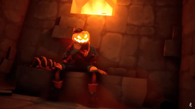 """Das Bild zeigt den Protagonisten des Spieles """"Pumpkin Jack"""": Pumpkin Jack."""