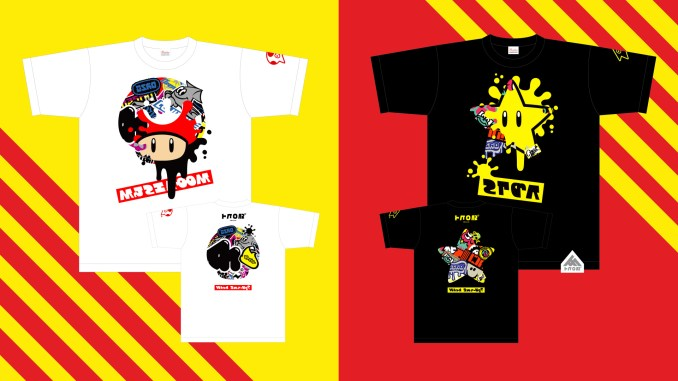 """Das Bild zeigt die Splatfest-Shirts passend zum Thema """"Geringe Auswahl an Nintendo-Merch""""."""