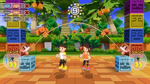 Dieses Bild zeigt das Spiel Seilspringen in Family Trainer.
