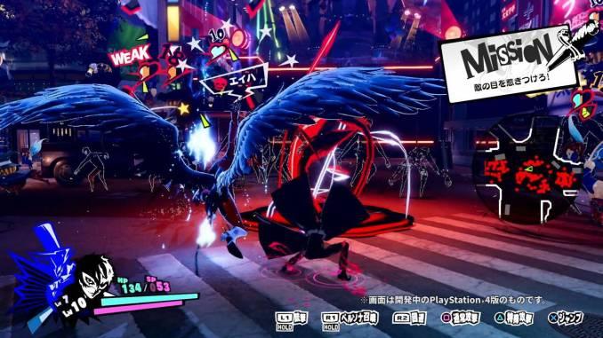 Das Bild zeigt Joker im Kampf auf einer Staraße Japans aus dem Spiel Persona 5 Scramble