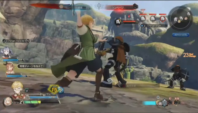 """Das Bild zeigt einen Kampf in """"Atelier Ryza 2: Lost Legends & the Secret Fairy""""."""