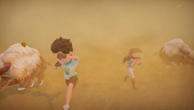 """Das Bild zeigt eine Szene in der Wüste in """"My Time at Sandrock""""."""