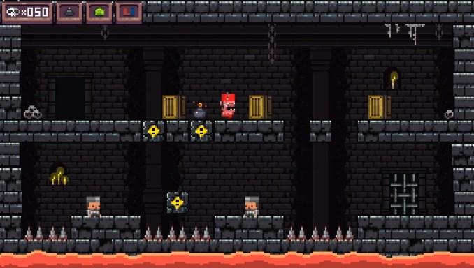 """Das Bild zeigt ein Level aus """"More Dark""""."""