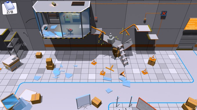 """Das Bild zeigt eine Szene aus dem Spiel """"Area 82""""."""