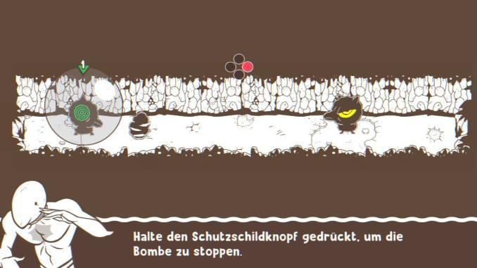 """Das Bild zeigt das Schutzschild in dem Spiel """"Ponpu""""."""