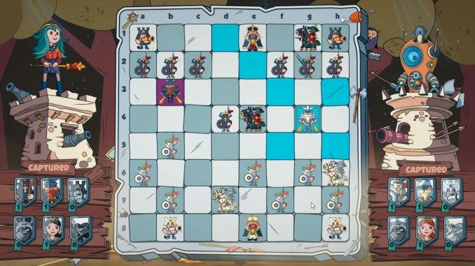 """Das Bild zeigt eine Szene aus dem Spiel """"Brawl Chess""""."""