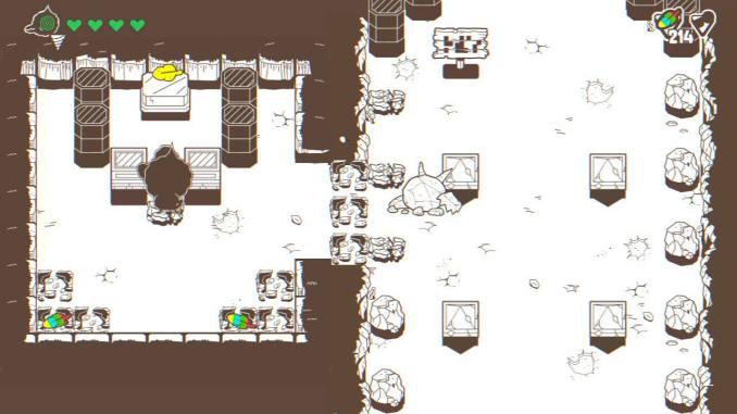 """Das Bild zeigt sowohl bunte, wie auch goldene Federn auf einem Bildschirm. Es handelt sich um eine Szene aus dem Spiel """"Ponpu""""."""