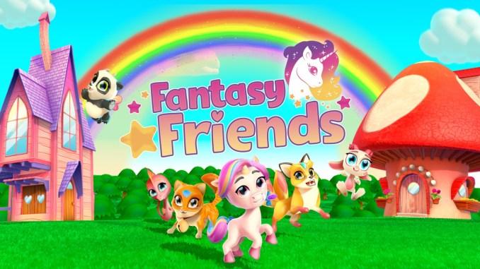 """Das Bild zeigt das Logo von """"Fantasy Friends""""."""