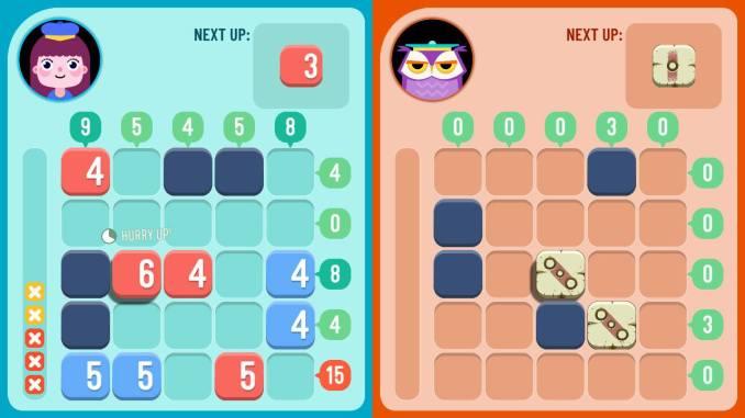 """Das Bild zeigt ein Spiel, in welchem gegeneinander angetreten wird. Es handelt sich um eine Szene aus """"TENS!""""."""
