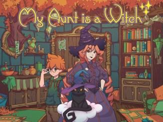 """Das Bild zeigt das Logo von """" My Aunt is a Witch""""."""