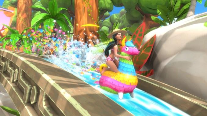 """Das Bild zeigt eine Szene aus dem Spiel """"Slide Stars""""."""