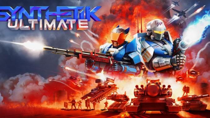 """Das Bild zeigt das Titelbild und das Logo von """"SYNTHETIK: Ultimate""""."""