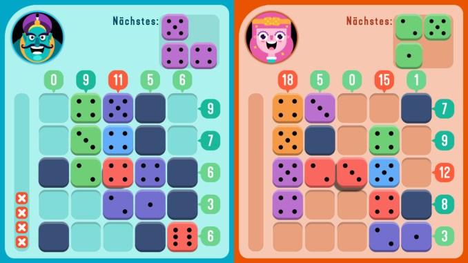 """Das Bild zeigt zwei Spieler, welche in """"TENS!"""" gegeneinander antreten."""
