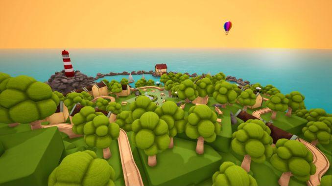 """Das Bild zeigt eine Szene aus dem Spiel """"Tracks – Der Holzeisenbahn Simulator""""."""