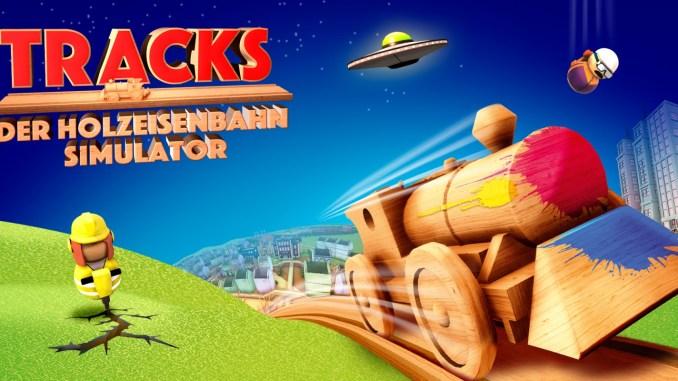 """Das Bild zeigt das Logo von """"Tracks – Der Holzeisenbahn Simulator""""."""