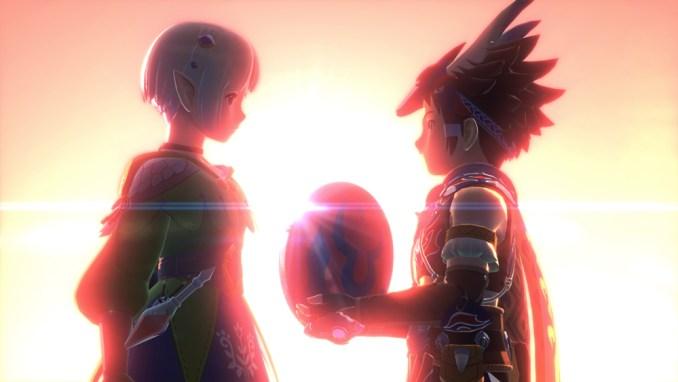 """Das Bild zeigt eine Sequenz in """"Monster Hunter Stories 2""""."""