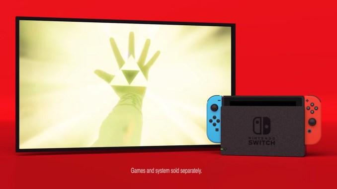 Das Bild zeigt die die Rückhand und das triforce Zeichen aus Zelda Breath of the Wild