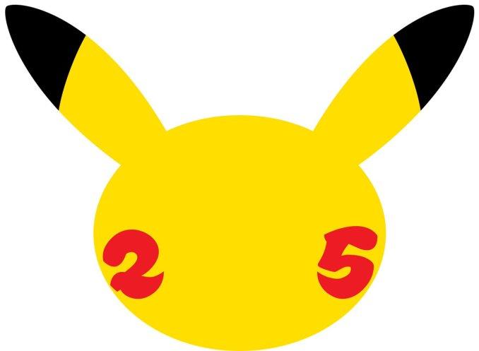 Das Bild zeigt das Logo zum 25-jährigen Jubiläum von Pokémon.