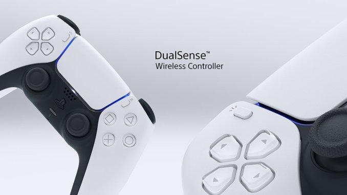 Das Bild zeigt den Dual Sense Controller der PS5.