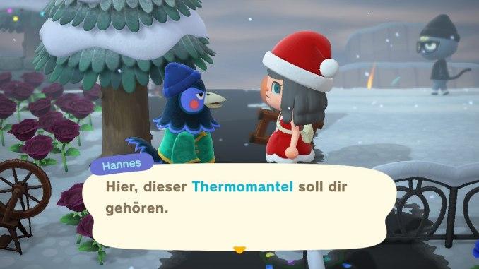 """Das Bild zeigt die Belohnung für ein Geschenk als Resultat einer Freundschaft in """"Animal Crossing: New Horizons""""."""