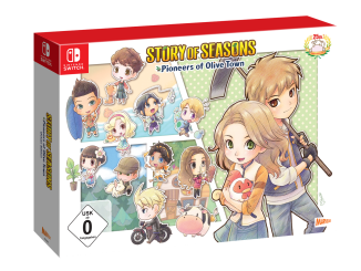 "Das Bild zeigt die Collector Edition von ""TORY OF SEASONS: Pioneers of Olive Town""."