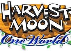 """Das Bild zeigt das Logo von """"Harvest Moon: One World""""."""