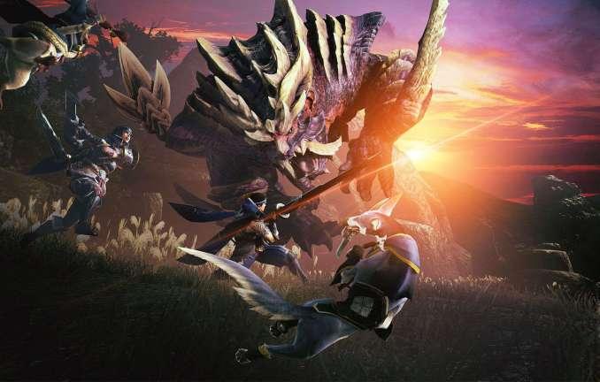 """Das Bild zeigt eine Szene aus dem Spiel """"Monster Hunter Rise""""."""