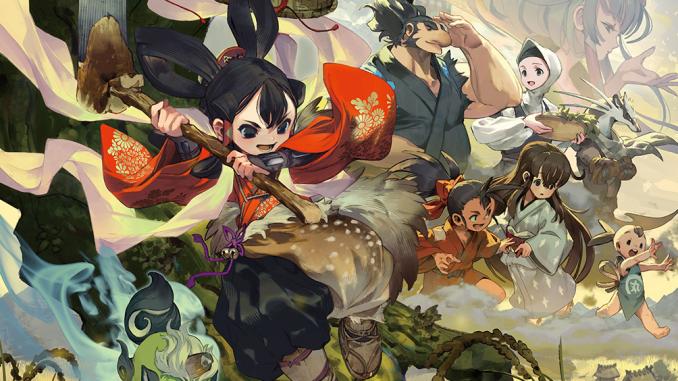 """Das Bild zeigt ein Artwork zu dem Spiel """"Sakuna: Of Rice and Ruin""""."""