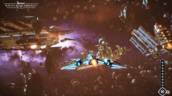 """Das Bild zeit eine Szene aus dem Spiel """"Redout: Space Assault"""","""