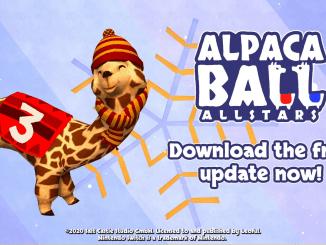 """Das Bild zeigt das Logo des kostenfreien Updates von """"Alpaca Ball: Allstars""""."""